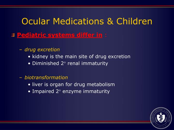 Ocular Medications & Children