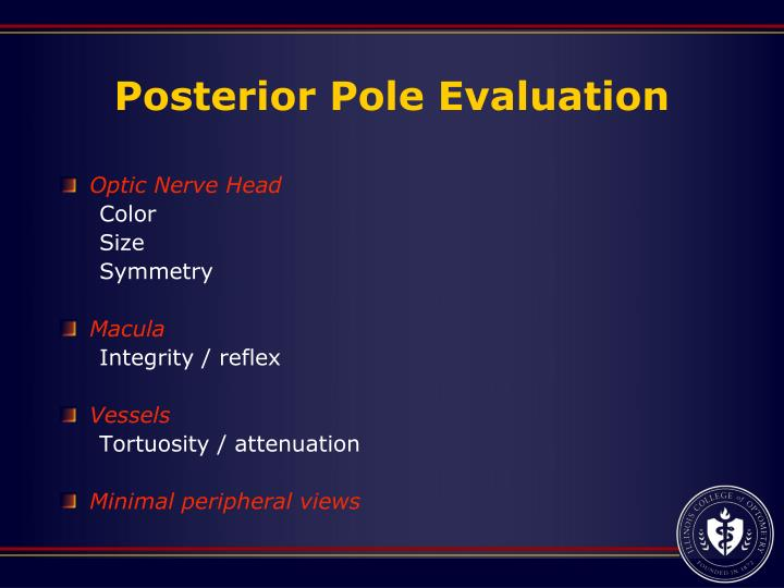 Posterior Pole Evaluation