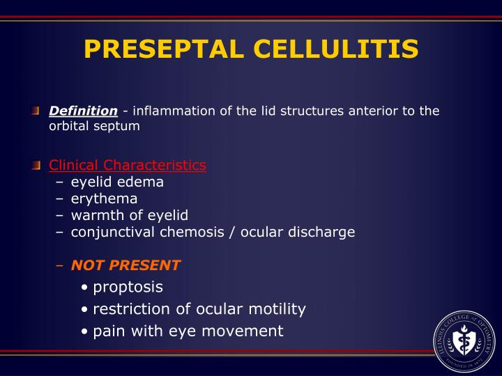 PRESEPTAL CELLULITIS