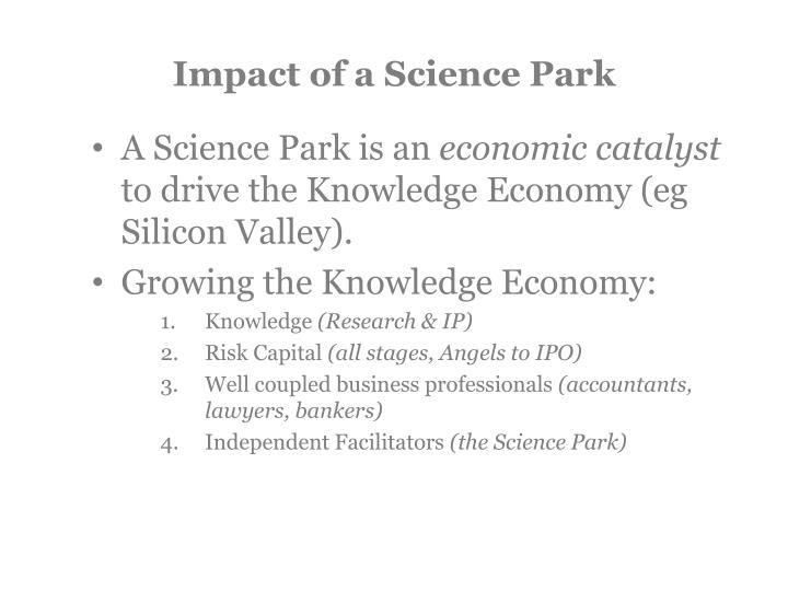 Impact of a Science Park