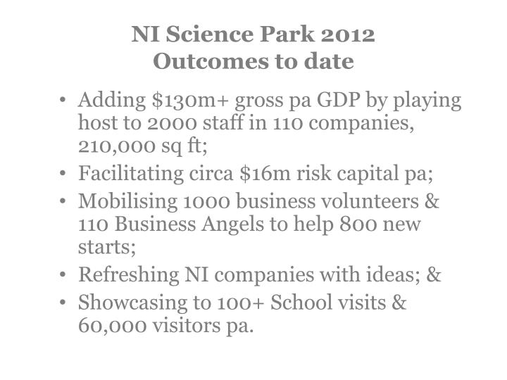 NI Science Park 2012