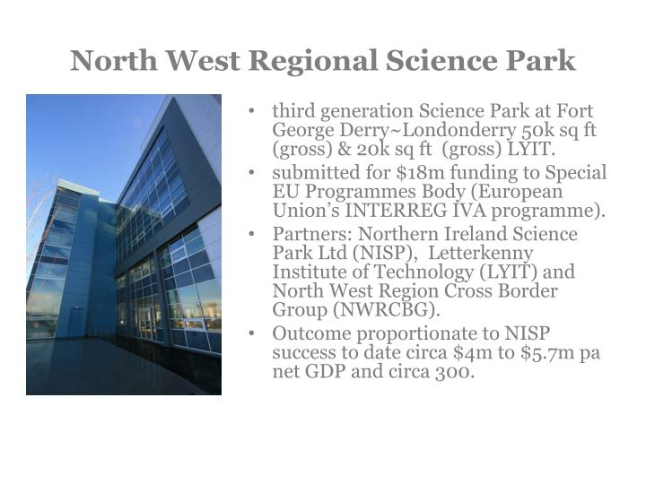 North West Regional Science Park