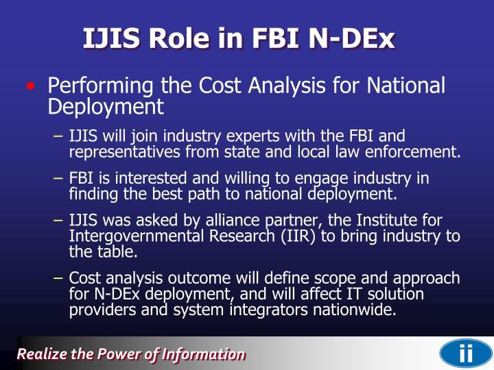 IJIS Role in FBI