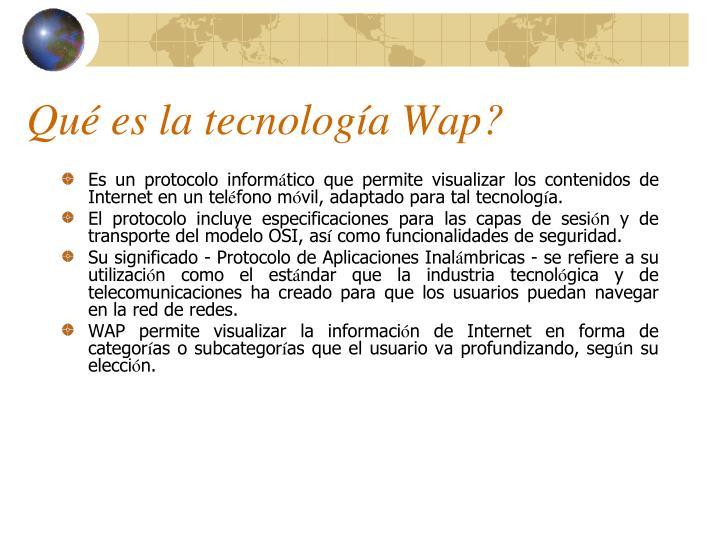 Qué es la tecnología Wap?