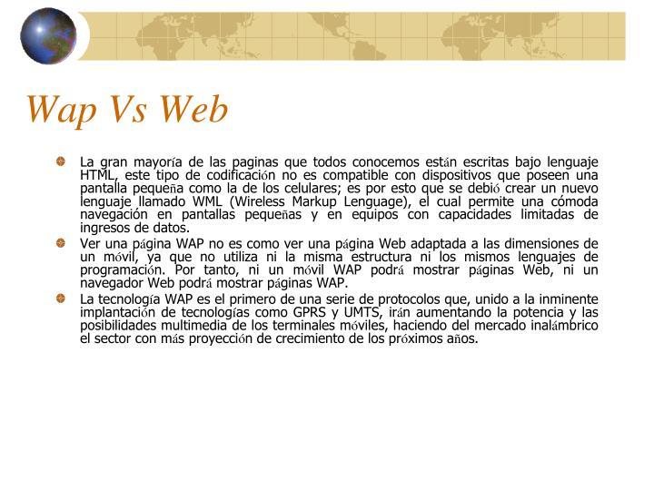 Wap Vs Web