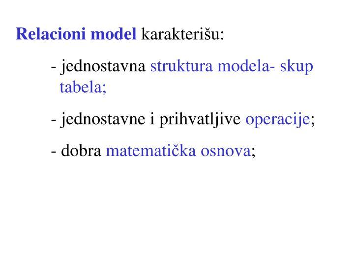 Relacioni model