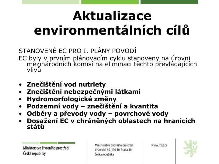 Aktualizace environmentálních cílů