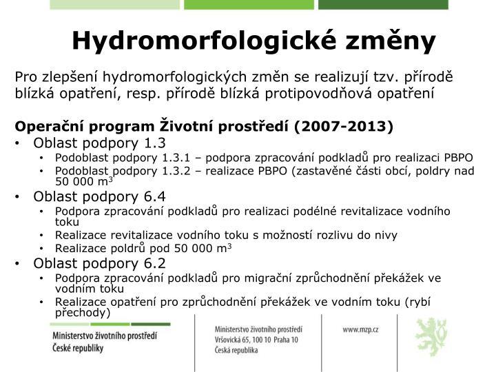Hydromorfologické změny