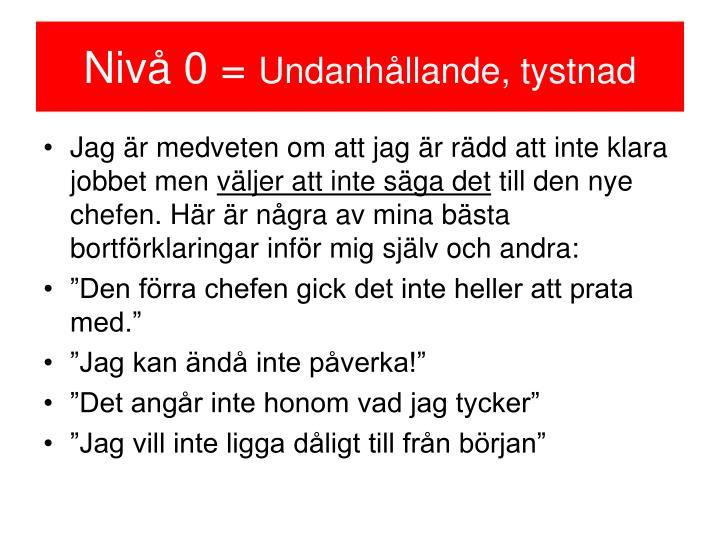 Nivå 0 =