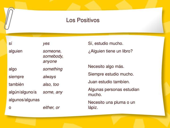 Los Positivos