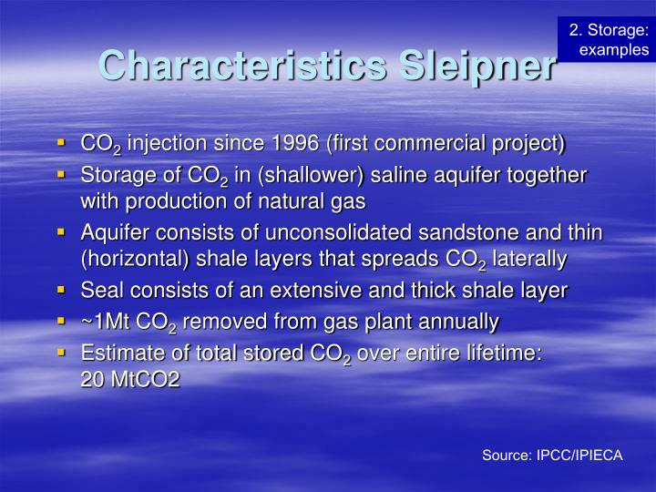 Characteristics Sleipner
