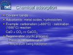 chemical adsorption