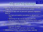 co 2 and ch 4 leakage