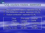 co 2 capture routes summary