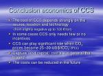 conclusion economics of ccs