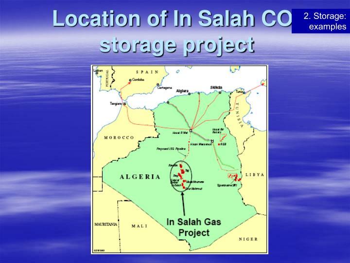 Location of In Salah
