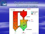 oxyfuel combustion chemical looping combustion