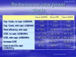performance new power plants current technology