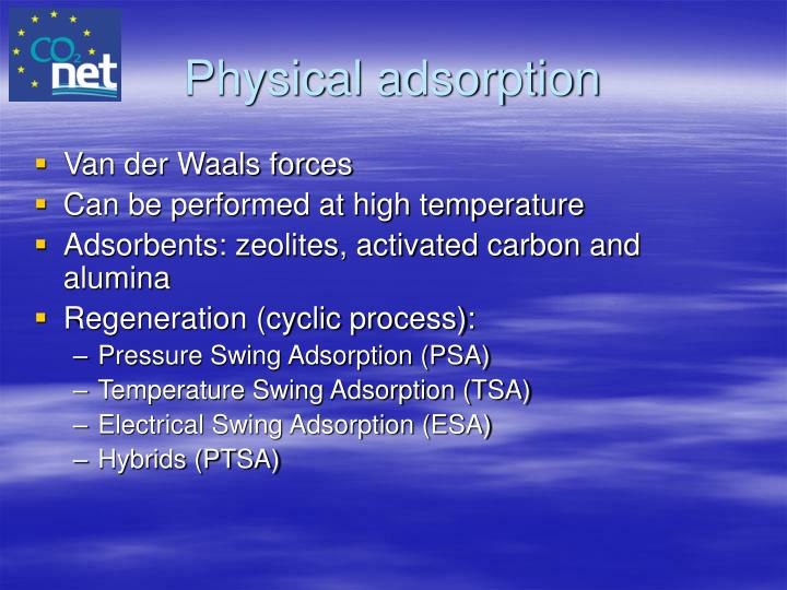 Physical adsorption