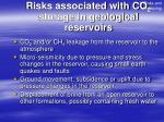 risks associated with co 2 storage in geological reservoirs