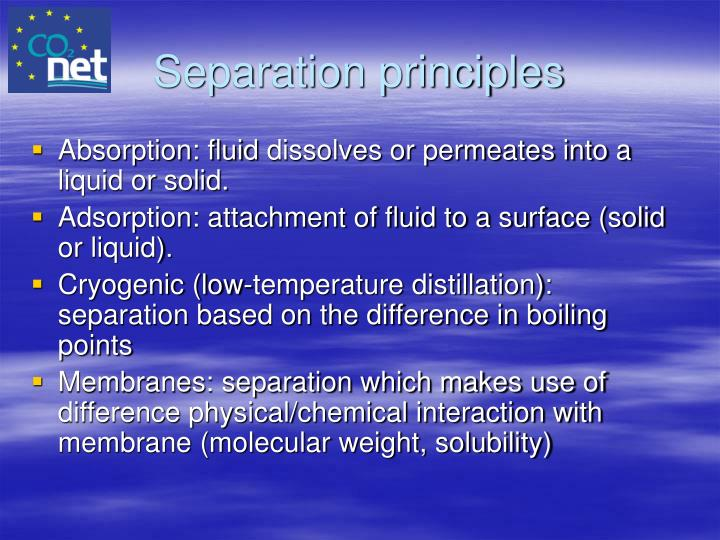 Separation principles