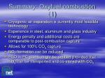 summary oxyfuel combustion 1