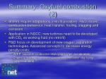 summary oxyfuel combustion 2