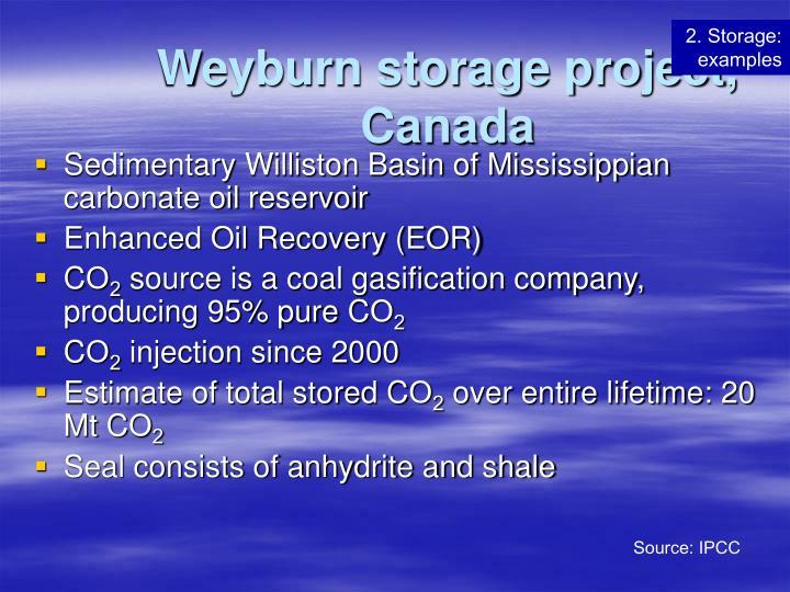Weyburn storage project, Canada