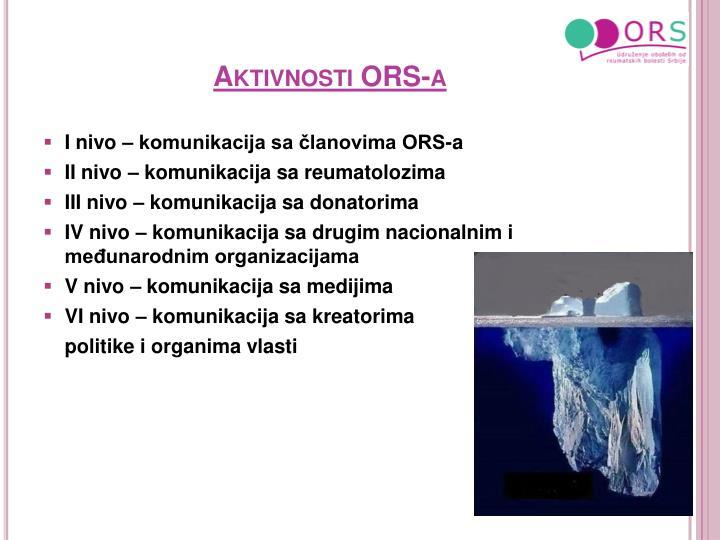 Aktivnosti ORS-a