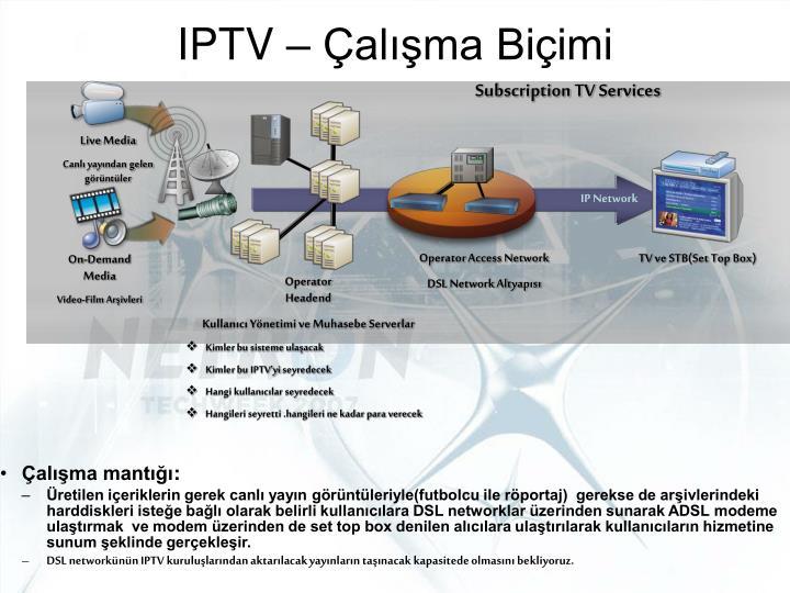 IPTV – Çalışma Biçimi