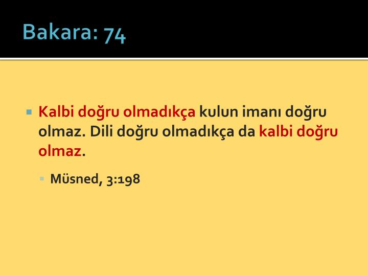 Bakara: 74