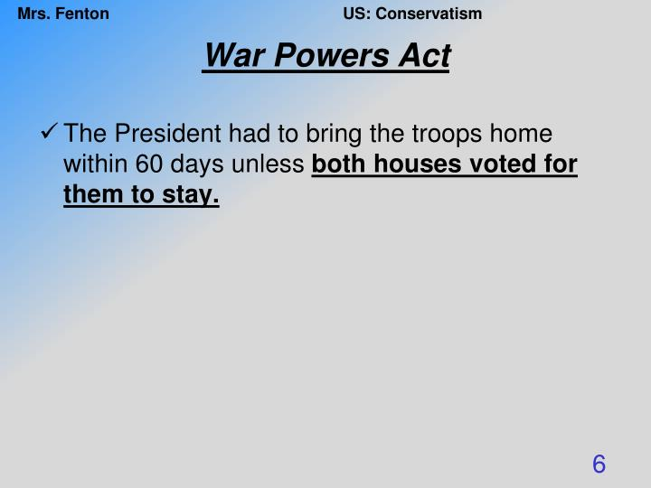 War Powers Act