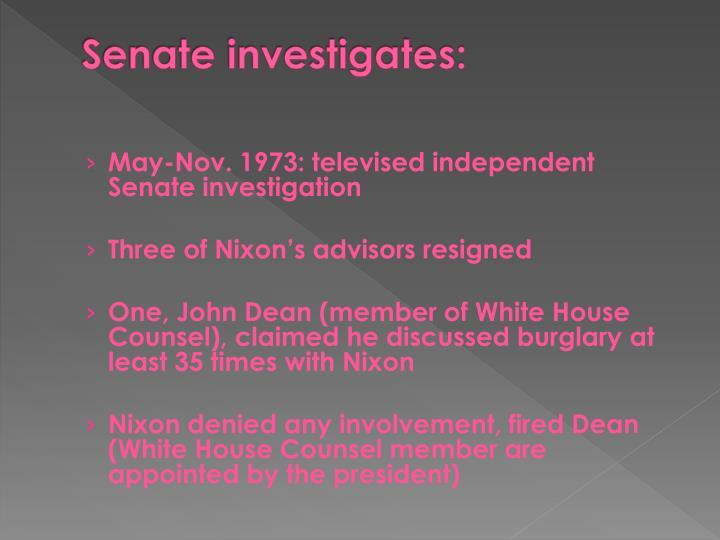 Senate investigates: