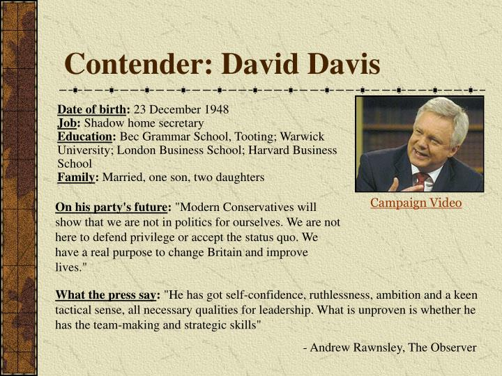 Contender: David Davis