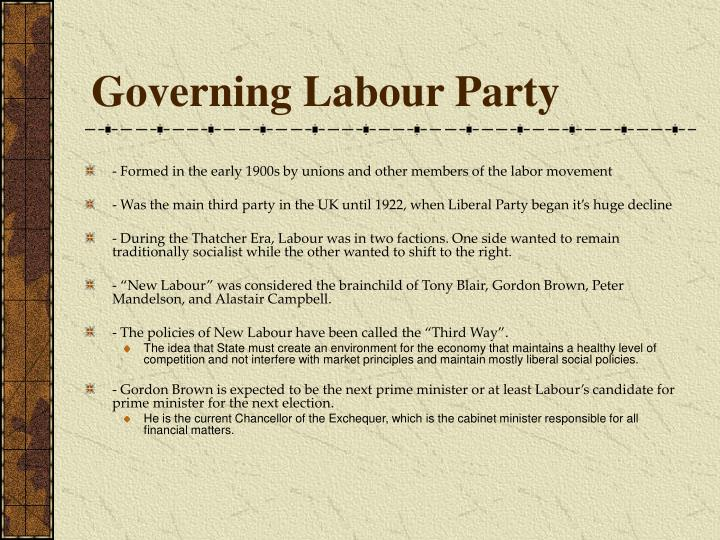 Governing Labour Party