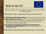role in the eu