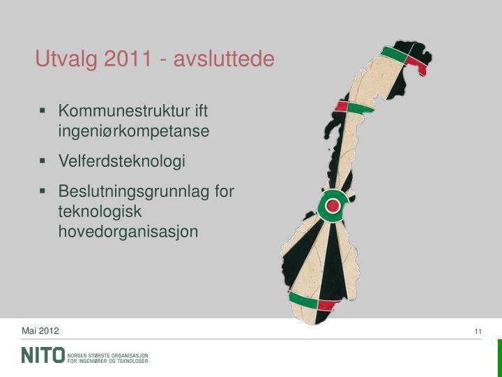 Utvalg 2011 - avsluttede