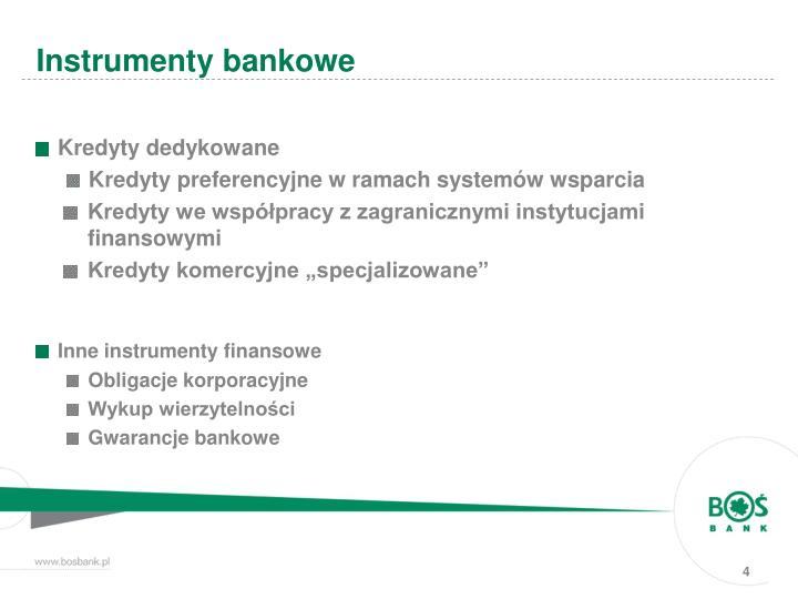 Kredyty dedykowane
