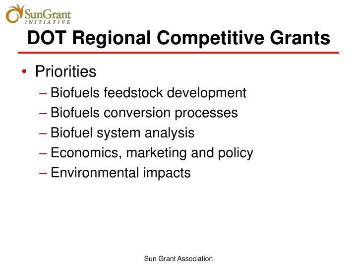 DOT Regional Competitive Grants