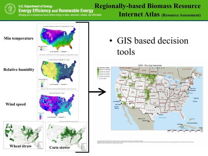Regionally-based Biomass Resource Internet Atlas