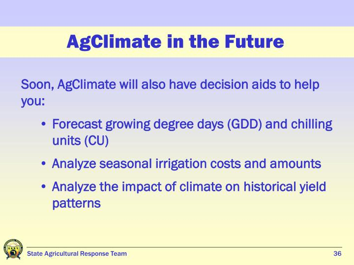 AgClimate in the Future