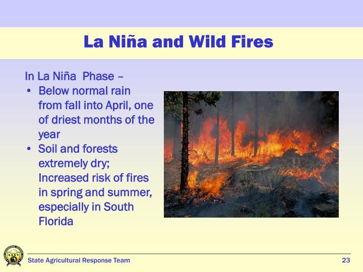 La Niña and Wild Fires