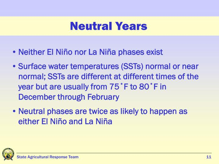 Neutral Years