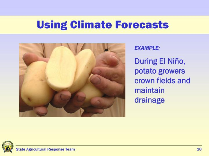 Using Climate Forecasts
