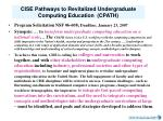cise pathways to revitalized undergraduate computing education cpath