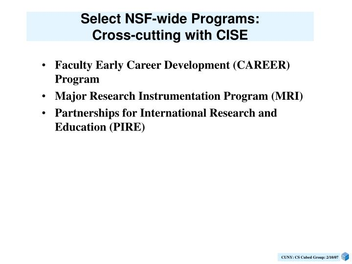 Select NSF-wide Programs: