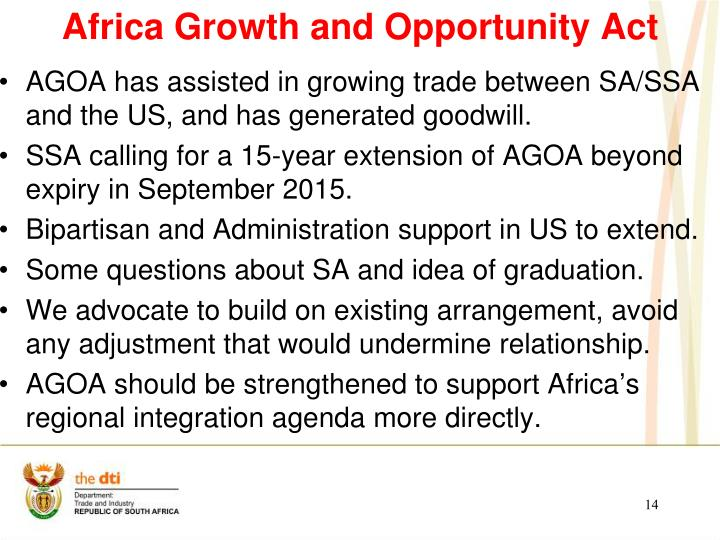 Africa Growth and Opportunity Act