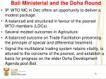 bali ministerial and the doha round