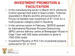 investment promotion facilitation
