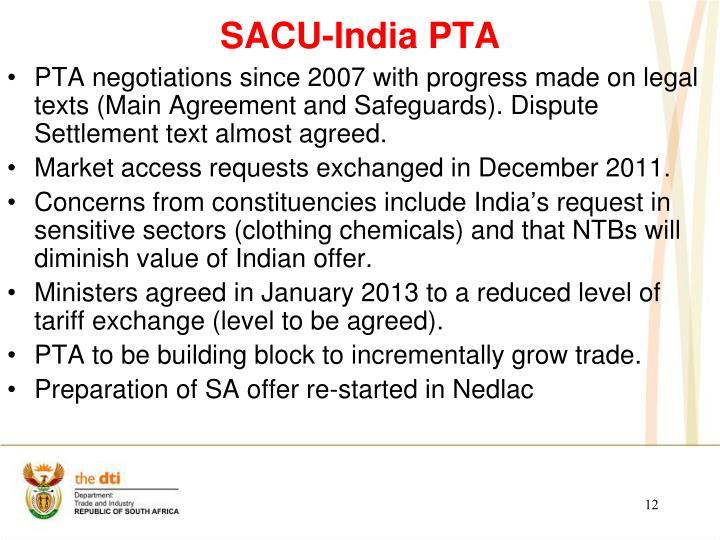 SACU-India PTA